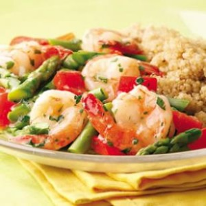 lemon-garlic shrimp and veggies